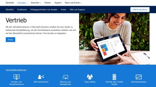 Mit Dynamics CRM schafft es auch Microsoft an die Spitze der CRM-Anbieter. Das System lässt sich nahtlos mit weiteren Microsoft-Produkten integrieren und kann On-Premise, On-Demand oder auch als Hybrid-Lösung eingesetzt werden.