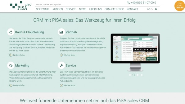 Mit Pisa Sales präsentiert sich ein CRM-System, das in Berlin und inzwischen auch in der Cloud angeboten wird.