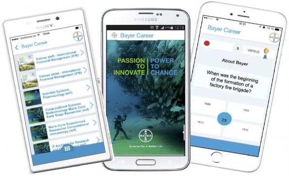 Eigentlich war die Firmen-eigene Bayer-App ja für das Recruiting und die Karriereplanung gedacht. Mittlerweile hat sie sich aber auch zu einer firmeninternen Quiz-App mit rund 54.000 aktiven Nutzern entwickelt.