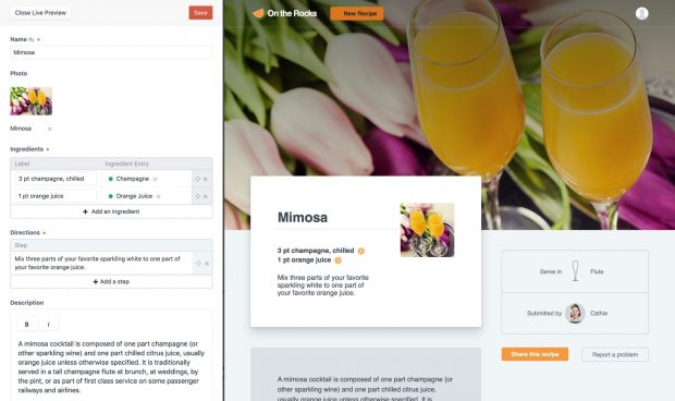 Bei Craft CMS können Änderungen an Seiteninhalten vor der Veröffentlichung in Echtzeit angesehen und mit anderen geteilt werden. (Screenshot: Craft CMS)