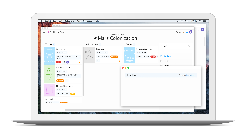 Zen ist Programm: Zenkit will durch ein aufgeräumtes Interface mehr Ruhe in die Projektverwaltung bringen. (Screenshot: Zenkit)