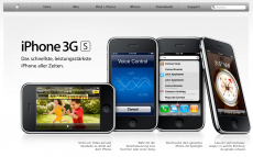 Apple-Website mit dem iPhone 3GS
