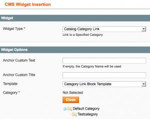 Integration eines Widgets übers Backend