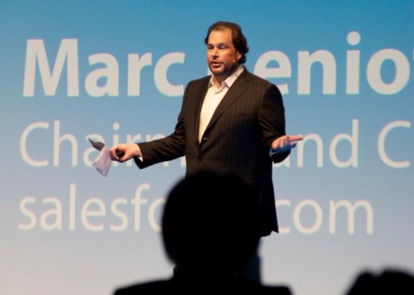 Marc Benioff, CEO & Chairman von Salesforce.com. Foto: Franz Patzig.