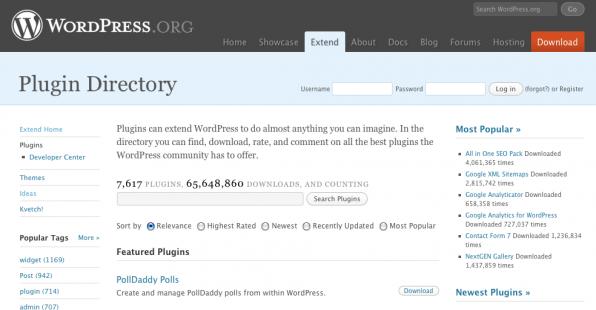 Verführerisches Plugin-Directory... Plugins können im Hintergrund eine erhebliche Bremse sein.