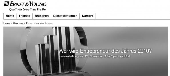 Businessplan Wettbewerb - Entrepreneur des Jahres 2011