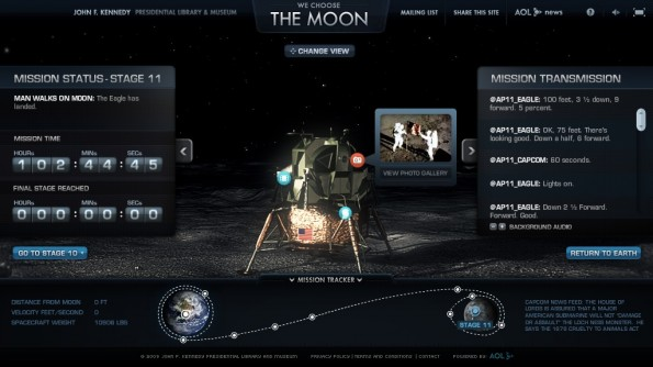 WebDoc 'We choose the moon' des JFK Presidential Museum