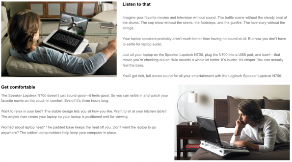Logitech Speaker Lapdesk N700