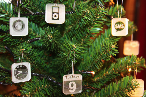 iPhone-App als Weihnachtskugel
