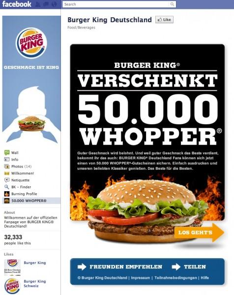Burger King Facebook | Personal Blog