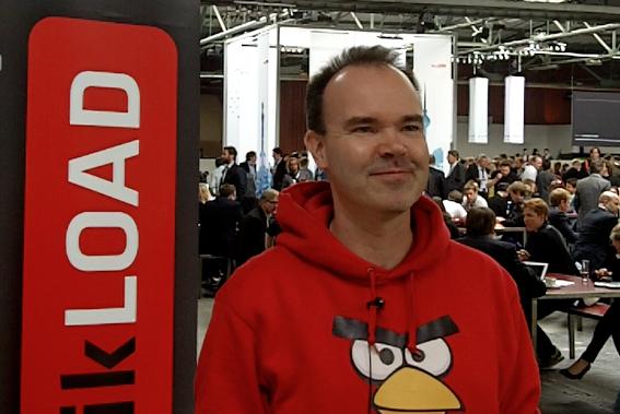 Auf der Visitenkarte von Peter Vesterbacka (Angry Birds) steht Mighty Eagle.