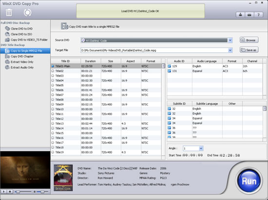winxdvd free download interface