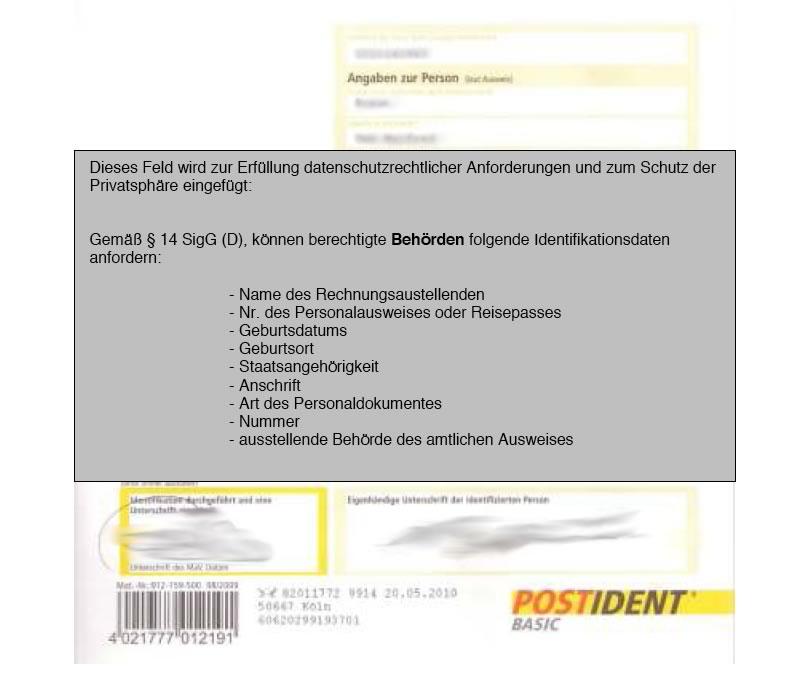 Postident Vollmacht