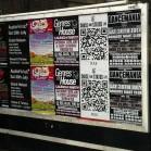 Plakatwand mit QR-Code
