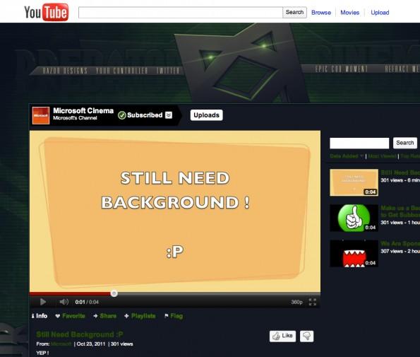 MicrosoftsYouTube Kanal 1 595x505 Microsofts YouTube Kanal von Unbekannten übernommen