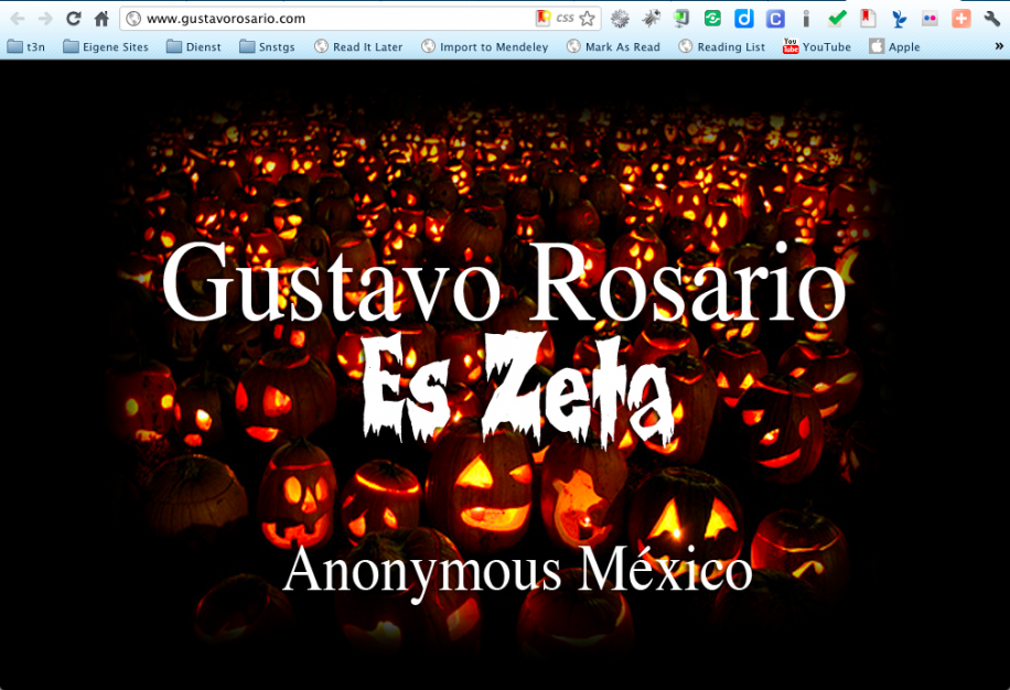 Anonymous vs. mexikanisches Drogenkartell Los Zetas