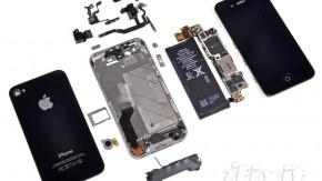 iPhone 4S in Einzelteile zerlegt