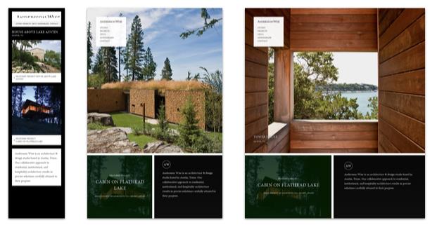 Responsive Webdesign mit fast komplett verschiedenen Designs - auch interessant