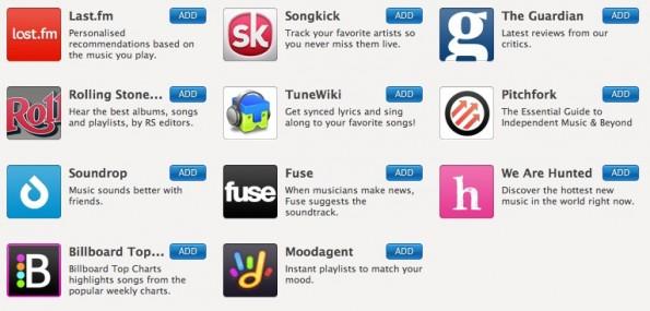 Die aktuelle Auswahl der Spotify Apps