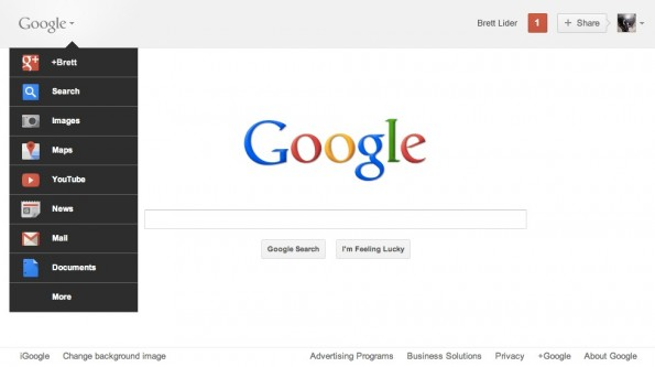 GoogleStartseite 2011 595x333 Google Startseite: Die Evolution von 1998 bis heute in Bildern