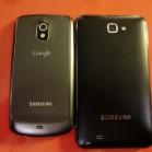 Samsung Galaxy Note vs Nexus back