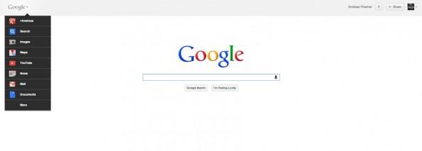 google bar neu 595x213 Google Bar: Neue Navigation für alle Google Dienste   So aktivierst du sie