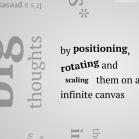 Impress.js Screenshot: Animierte Texteffekte