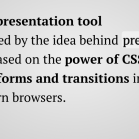 Impress.js Screenshot: presentation tool with HTML5 and CSS3