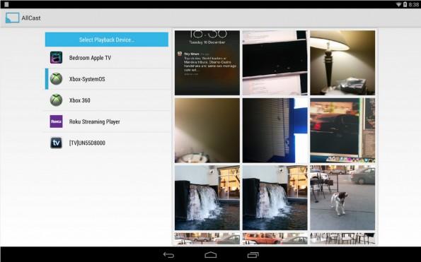 Mit Allcast könnt ihr Medieninhalte von Dropbox auf euren Fernseher bringen. (Screenshot: Google Play)