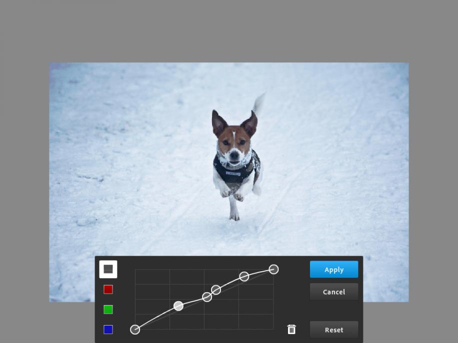 Photoshop Touch bietet auch Kurven.