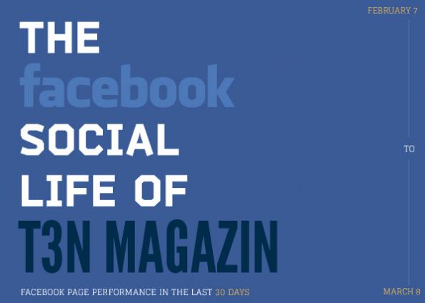 Infografik zur t3n-Facebbok-Fanpage erstellt mit visual.ly