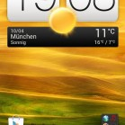 HTC one X homescreen