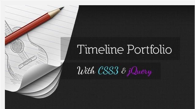 Das Timeline Portfolio ist nur eines von vielen kostenfrei erhältlichen jQuery und CSS3 Tutorials.
