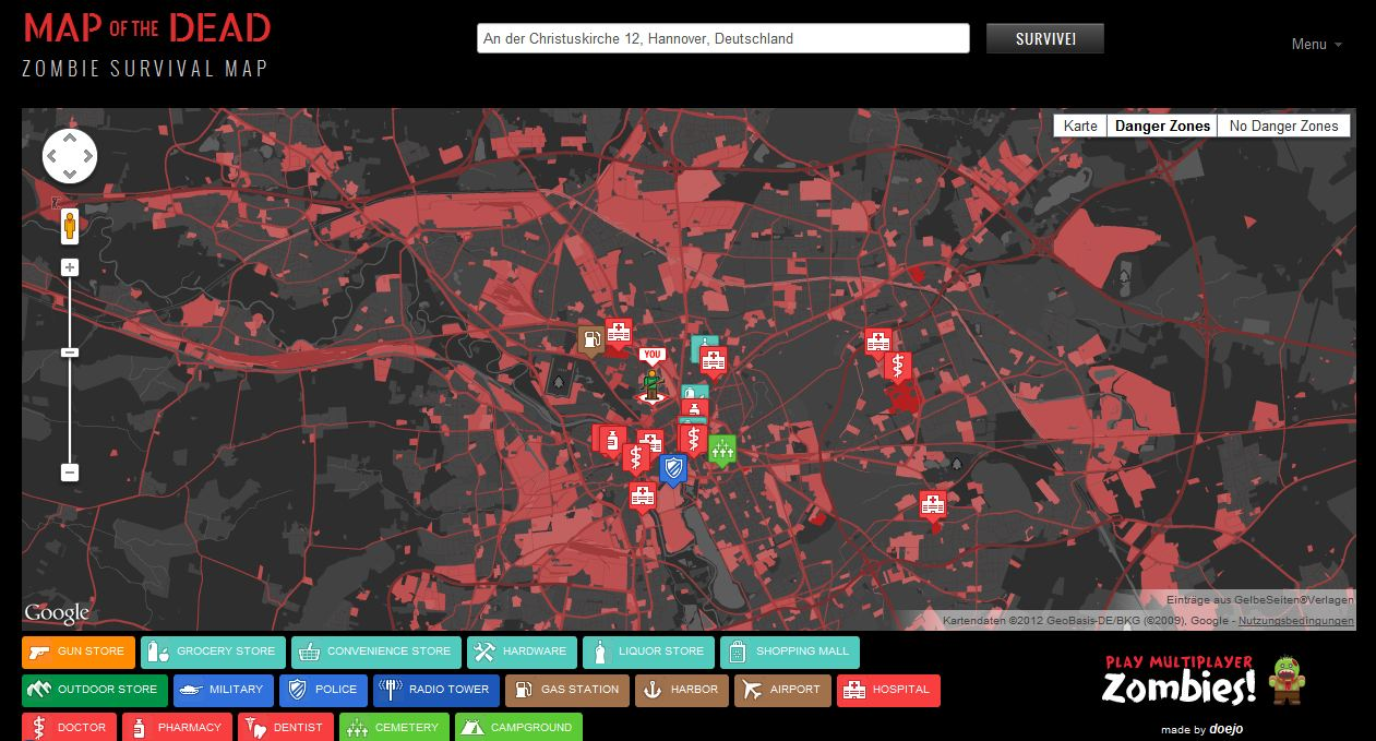 Map zombie survival xtreme 13.5