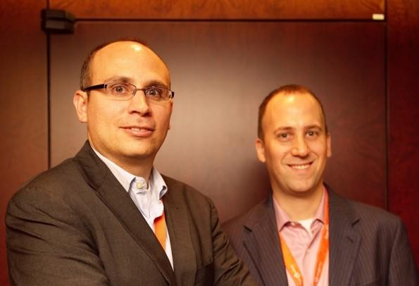 Links CEO Roy Rubin und rechts der ehemalige CTO Yoav Kutner