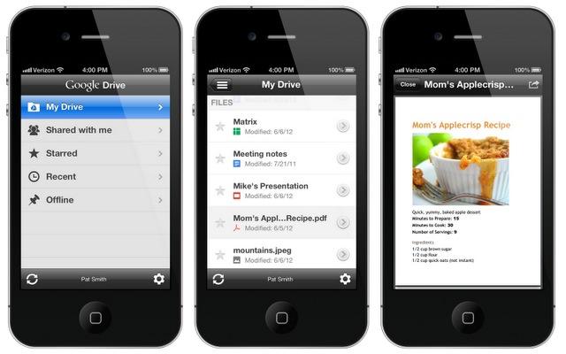 Google Drive jetzt auch für iOS (Bild: Google)