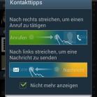 Samsung Galaxy S3 screenshot telefoniegesten