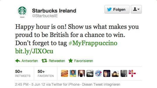 Mit diesem Tweet sorgte Starbucks Ireland für einen Twitter-Shitstorm.