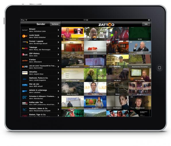 Zattoo auf dem iPad