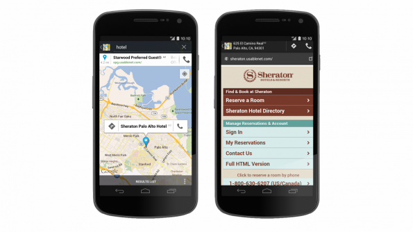 With new search ads in google maps for mobile mo lo means mo dough