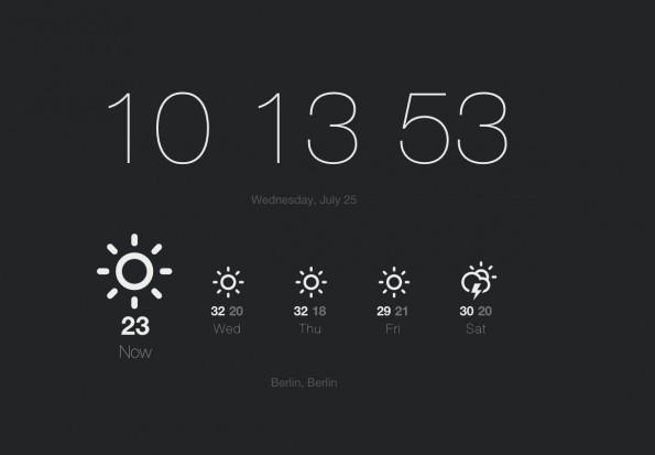 Chrome: Currently zeigt euch die Uhrzeit und das Wetter an. (Screenshot: Currently)
