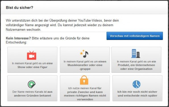 google youtube klarnamen 2