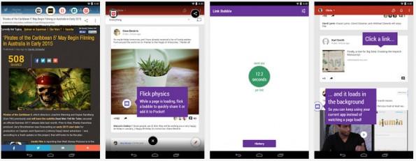 Beste Android-Browser: Der Link Bubble Browser verfolgt ein ungewöhnliches Konzept. (Screenshot: Play-Store)