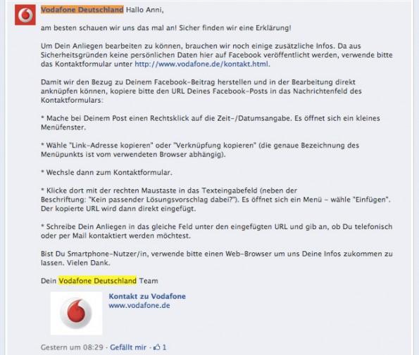 Reklamation Vodafone