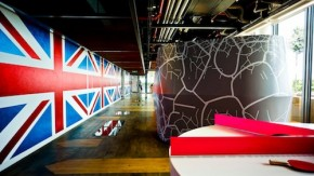Google-Büros London: Bunte Nostalgie in der Olympiastadt [Bildergalerie]