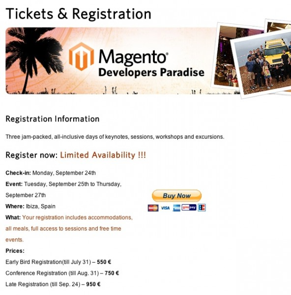 Magento Developers Paradise Tickets