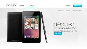 Nexus 7 im Play Store Deutschland verfügbar