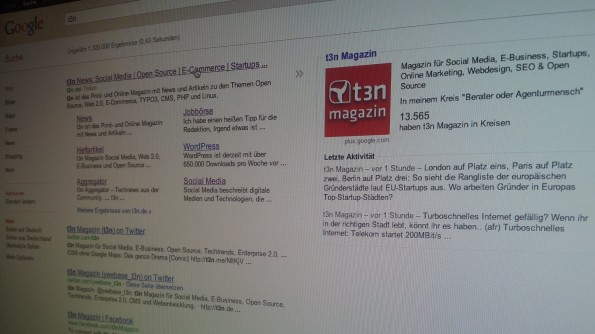 google suche featured