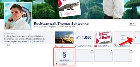 Impressum auf Facebook - Impressums-App