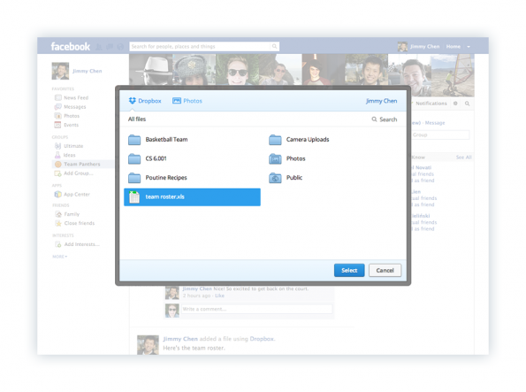 Dropbox Integration Facebook Gruppen 2